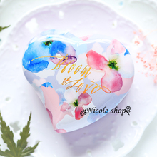 30psc heart-shaped Celebration box tin watercolor wedding candy box souvenir gift bag decoration table wedding favors and gifts
