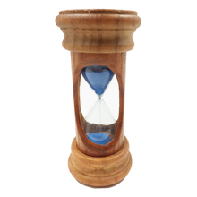 Decorative 3 Minutes Wooden Sand Sandglass Hourglass Timer Clock Home Decor Kitchen blue/pink for Morden Desk Ornaments Gift