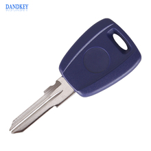 Dandkey Uncut Remote Car Key Shell Case For Fiat Stilo Punto Seicento Flip Fob Car Key Case No Chip Keyless Entry Key(China)