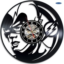 saat Flash DC Comics Room Decor Vinyl Record Clock Wall Art Home Design dial vision
