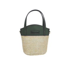 Korean version of the fashionable straw bag 2017 summer new portable handbag shoulder Messenger bag leisure beach bag bucket bag(China)