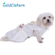 Pet Dog Clothes Dresses Skirts Puppy Kitten Marry Costumes married Wedding dress Party Princess Lace Clothes for Doggy Kitty(China)