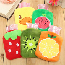 Rubber HOT Water Bottle Bag Hand Feet Warming Cartoon Plush Warm Relaxing Heat Cold Outdoor Necessary Home Handbags 1PC(China)