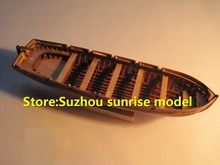 LOVE MODEL Free shipping Scale 1/75 Hi-Q wooden lifeboat model kits The HMS surprise Warship's lifeboat 125mm Launch model