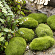 1pc New Artificial fake moss lawn Mossy stone model Micro landscape fairy garden miniature decoration ornament(China)