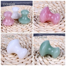 2017 Natural Green Aventurine rose quartz white jade Massage Relaxation Stone For Body Chakra Healing Crystal beads reiki Health(China)