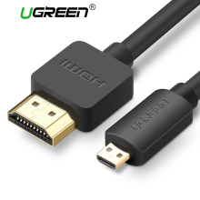 Ugreen Micro HDMI to HDMI Cable1.5m 2m 3m 3D 4K*2K Male-Male High Premium Gold-plated HDMI Adapter for Phone Tablet HDTV Camera