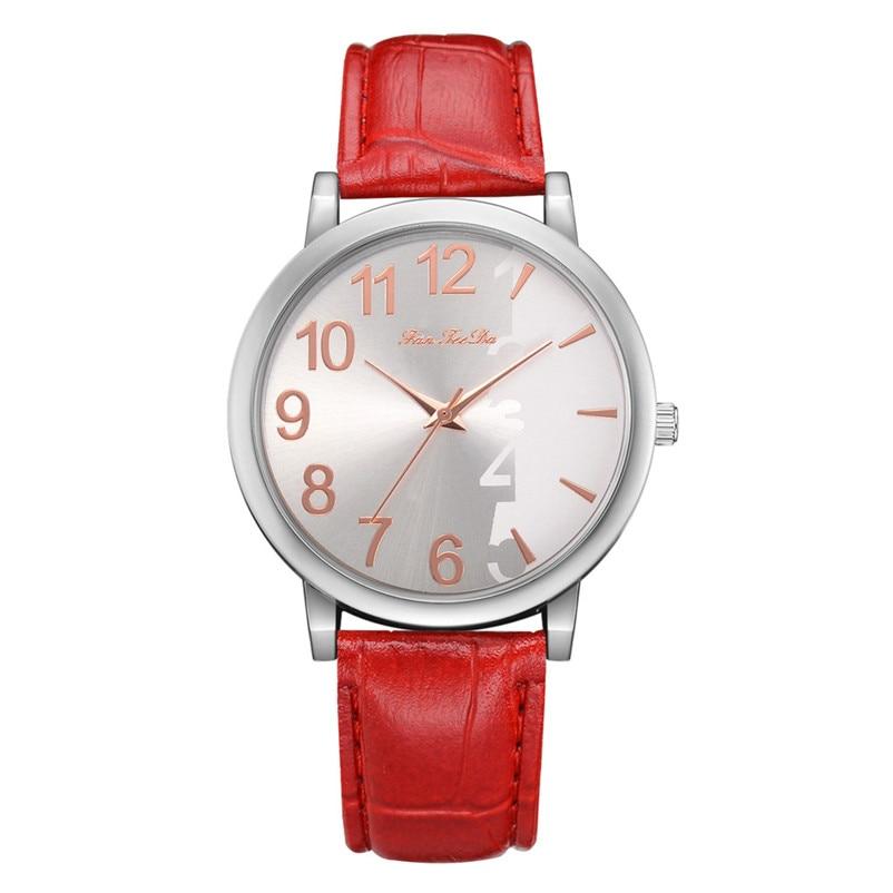 2018 High Quality women fashion casual watch luxury dress Leather bands Analog Quartz Wrist Watch clock relogio feminino Y12 (4)