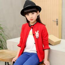 Long Sleeves Cartoon Girls Sweater Kids Cardigan Girls 5-13Y Spring Fall Green Red Baby Cardigan Girl Coats And Jackets JW2237A