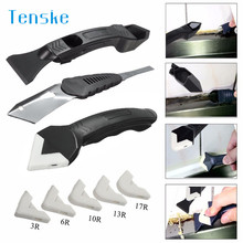 tenske Squeegees 3Pcs Silicone Scraper Caulking Grouting Tool Sealant Finishing Cleaning Kit Set u70509 DROP SHIP(China)