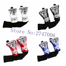 2pcs /set golf fairway wood headcover FW head  cover skull fairway wood cover with interchangeable tag number 4 colors