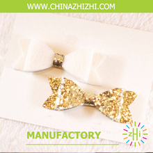 2018 beauty product Alibaba Express Hot Sale New Style Felt Hair glitter bows(China)