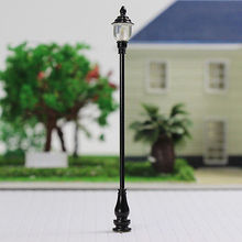new 10pcs Model Railroad train Lamp posts Led street light Antique Lamps O scale LQS20 model train 1/43 railway modeling