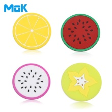 4pcs Creative Fruit Style Silicone PVC Cup Mat Summer Fruit Coasters Colorful Skid Proof Mug Pads Heat Insulating Cup Pads