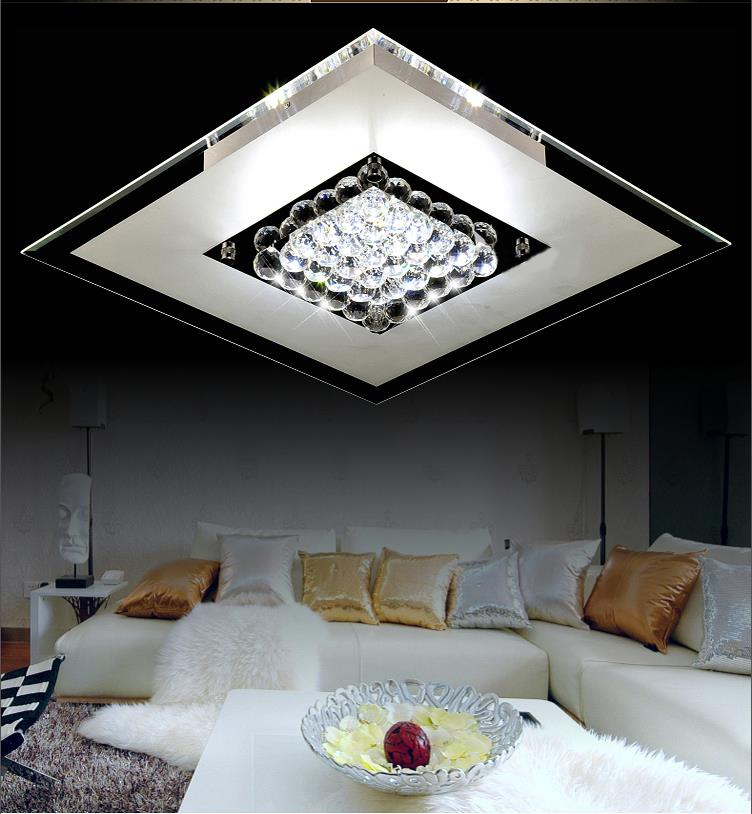 Modern surface mounted ceiling lights fixtures with glass stone and stainless steel for living room lamp AC220v<br><br>Aliexpress