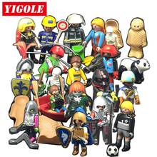 Playmobil Action Figures Set Toy Summer Fun City Life Knight Pirate playmob Models Kids Toys Gift