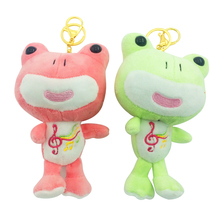 1pc 15cm Fashion Cute Small Pendant Stuffed Animal Plush Frogs Popular Decorations For Girl's Handbag Kawaii Kid's Toy