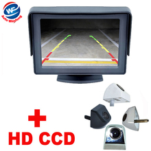 "170 wide Angle car backup camera Parking Assistance System black white General Car Rearview Camera+4.3""TFT LCD car Monitor HD(China)"