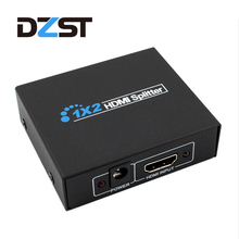 DZLST HDMI Splitter Full HD 1080p Video HDCP HDMI Switcher 1X2 Split 1 in 2 Out Amplifier Display For HDTV DVD PS3 PS4(China)