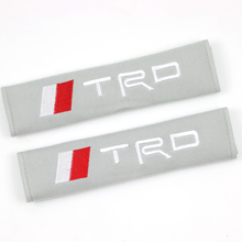New car covers seat belt pad embroidery pattern cotton fit for toyota corolla camry avensis rav4 yaris toyota auris 2pcs/set(China)