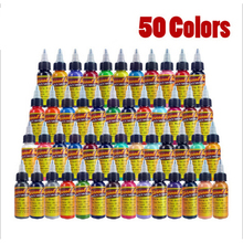 50pcs tattoo ink set Microblading permanent makeup art pigment 30ml tattoo paint for eyebrow eyeliner lip body total 50 colors(China)