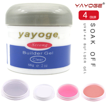 YAYOGE Long Hard Nail Gel UV Builder Art Pink Clear White Beauty Strong manicure polish gelpolish Bonder Top coat