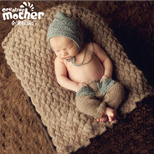 Crochet Newborn Baby Hat Winter Cap,Knitting Toddler Bebe Cap Photography Props,Infant Baby Costumes For Children(China)