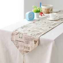 American Country Tower Customized cotton ancient British style decoration cabinet's gift linen table runner(China)