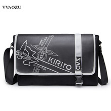 Japan Anime Sword Art Online Messenger Bag Totoro Cosplay Shoulder Crossbody Travel Bag Tokyo Ghoul PU Schoolbags for Teenagers
