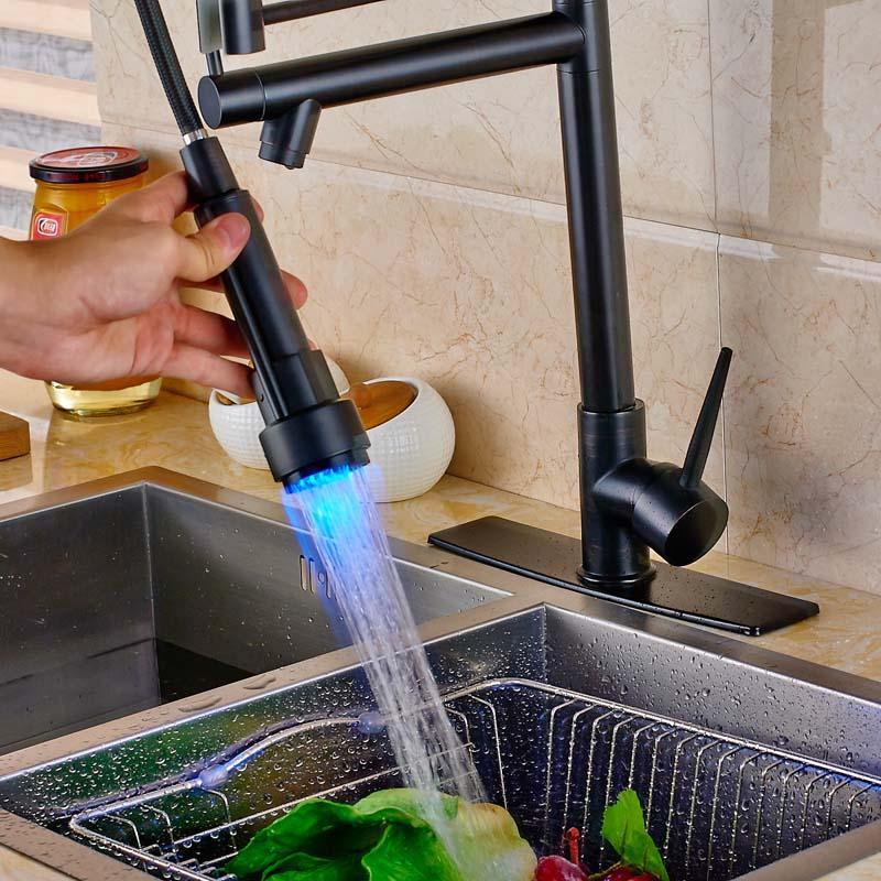 Oil-Rubbed-Bronze-Countertop-LED-Spout-Kitchen-Sink-Faucet-Single-Handle-Swivel-Spout-Mixer-Tap (3)