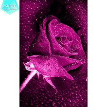 PSHINY DIY diamond embroidery patterns flowers rose pictures mosaic 5D Full Square rhinestones diamond painting cross stitch