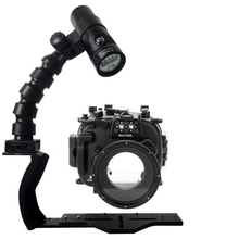 Underwater Waterproof Housing Diving Case for Fujifilm X100S X-T1 X-T10 X-M1 X-A1 XA-2 Camera+ Flex Arm Bracket +Led Video Torch