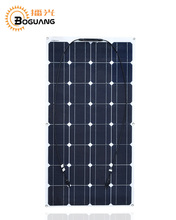 Boguang 1pcs 100w Semi flexible Monocrystalline silicon solar panel cell module kits for car yacht RV boat 12v battery charge