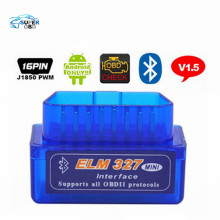 Super Mini Elm327 Bluetooth OBD2 V1.5 Elm 327 V 1.5 Android Adapter Car Scanner OBD 2 Elm-327 OBDII Auto Diagnostic Tool Scanner