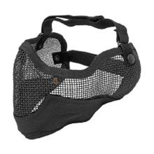 Outdoor Sports Steel Mesh Half Face Protective Mask Hunting Metal Wire Half Face CS Mask Mesh Airsoft Mask Paintball Resistant