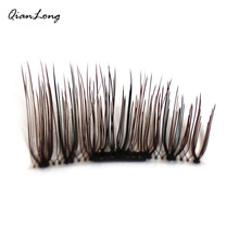 1 set/ 4Pcs 3D Magnetic False Eyelashes Natural Soft Makeup Fashion Beauty Tools Accessories 12*5*1.5 Fake Eyelash 2017 New(China)