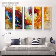 Sophie Beauty Home Diy Diamond Painting Cross Stitch Square Mosaic Handmade Embroidery Color Ink Clouds Multi Needlework Drawing