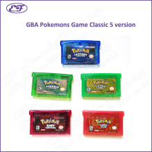 Wholesale 5pcs Nintendo classic GBA Pokemon Game card 5 verion Firered/Emerald/Ruby/LeafGreen/Sapphire Cartridge Gameboy Advance(China)