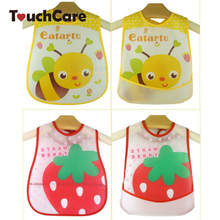 Baby Bibs EVA Waterproof Lunch Bibs Boys Girls Infants Cartoon Pattern Bibs Burp Cloths For Children Self Feeding Care(China)
