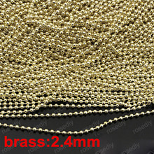 jewelry findings copper chain diy round ball brass light gold fashion bracelet necklace clothes craft making wholesales 2.4mm 5m