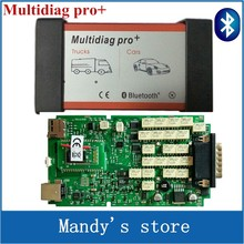 A+ Quality Single Green PCB Multidiag Pro+with Bluetooth Do More Cars/Trucks and OBD2 Scanner TCS cdp pro plus diagnostic tool