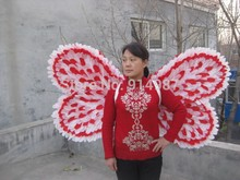 Buy feather Bee angel wings cosplay wings for party & stage show star wing products free shipping make to order(China)