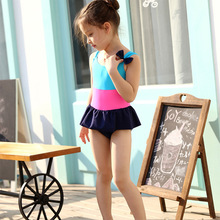 Summer 2016 Kids Swimwear Girls Bathing Suit One Piece Bow Bikini Swimming Suit For Girls Child Swim Wear Maillot De Bain