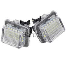 1Pair Car LED number License Plate Light 12V White SMD LED canbus lamp Car Styling For Mercedes W204 W212 W216 W221 C207 Benz(China)