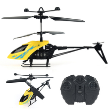 2.5 Channel Mini Micro RC Helicopter Fuselage Portable Remote Radio Control Aircraft Gyroscope Plane Model Toys(China)