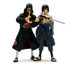 2pcs/set 14cm PVC japanese anime figures naruto Dolls Uchiha Sasuke + itachi game Naruto shippuden Action Figure Toy - toys mind store