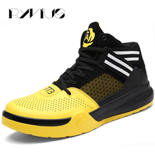 Ryvius Big Size 36-45 Men Basketball Sneakers High Top Outdoor Sports Basketball Shoes Women Athletic Trainers Ladies Basket Red