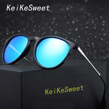 KeiKeSweet HD Polarized Hot Men Round Rayed Vintage Sun Glasses Women UV400 Brand Design Hot Driving Fishing Top Sexy Sunglasses(China)