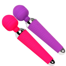 Body Massage Rock Super Powerful Waterproof USB Rechargeable Magic AV Wand Vibrator Adult Masssage Toys Pink Purple C