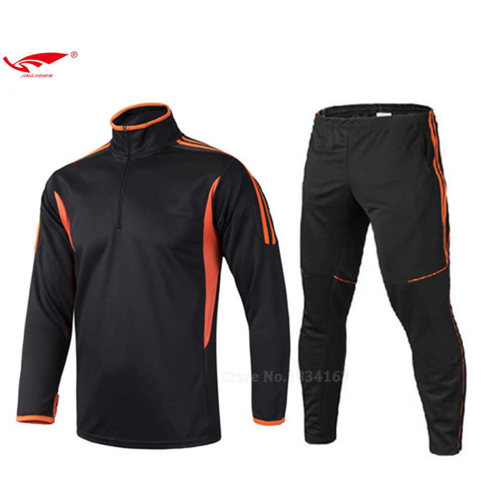 Новое поступление Для мужчин Футбол Наборы Для мужчин Futbol Спортивный  костюм Футбол форма дышащий спортивный костюм 7b191e46209